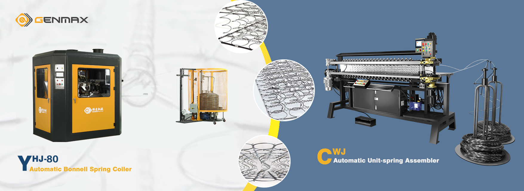 GENMAX mattress spring machine banner